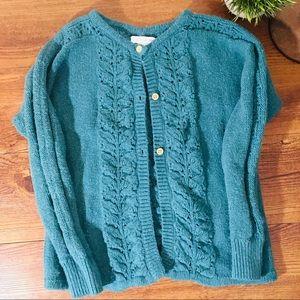 Girls Large Garnet Hill Kids Knit Sweater cardigan
